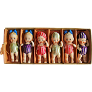 Cutest ever 6 all bisque kewpie type dolls