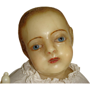 Wax baby creche figure