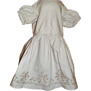 French pique dress for large wax doll