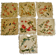 Beautiful hand painted silk mats of flowers