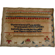 Sampler dated 1863 by Dorothy Pye wonderful wording