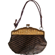 Miniature bag with ormolu frame with Jack and Jill
