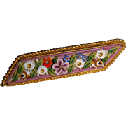 Very pretty micro mosaic brooch for doll