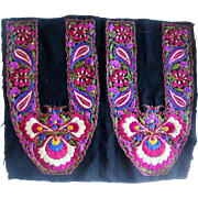 Pair of Chinese embroidered slipper front