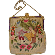 Tapestry bag with beautiful frame and picture
