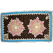 SOLD Beautiful pink bead work rug for the dolls house