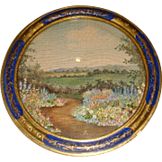 SALE PENDING Circular embroidered painted picture charming