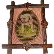 SALE PENDING Needle point picture of old bull dog