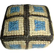 Footstool/pin cushion for the dolls house