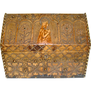 Arts and crafts tooled leather casket