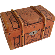 Small old doll trunk for FF doll