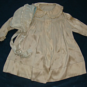 Stunning toddler jacket and bonnet hand stitching