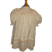 SOLD Victorian silk child's dress museum quality