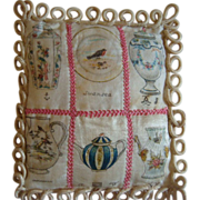 Early silk quilt for dolls bed