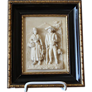 SOLD Antique French Framed Relief Carving