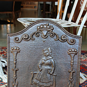 SOLD Early 20th Century French Cast Iron Fireback