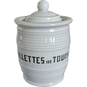 SOLD Very Old French Pottery Rillettes Crock