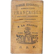 SOLD Small French Wood Advertising Box - Great Typography