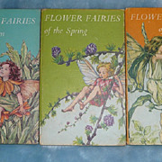 SOLD Set of 3 'Flower Fairies' Books, by Cicely Mary Barker - ca. 1950's-early 60's