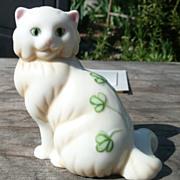 Curio Cabinet Cat - Belleek Style Porcelain - Franklin Mint - ca. 1986-88