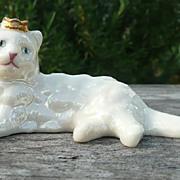 Curio Cabinet Cat - Lustre Glaze Style - Franklin Mint - ca. 1986-88