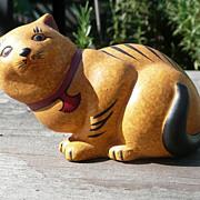 Curio Cabinet Cat - Chalkware  - Franklin Mint - ca. 1986-88