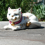 Curio Cabinet Cat - Satsuma Porcelain Style - Franklin Mint - ca. 1986-88