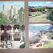 Set of 4 Hotel Postcards - Litho. - Mexico/Central America - ca. mid-late 1950's