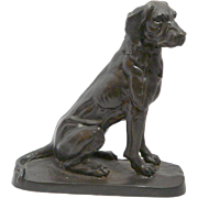"Vintage Bronze Retriever Dog ""On the Loose"""