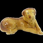 SALE Vintage Ceramic Yellow Labrador Retriever Dog from Brazil