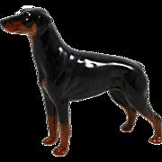 "SALE Vintage Doberman Pinscher Dog ""Annastock Lance"" - Beswick England"