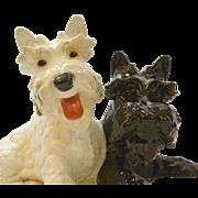 Vintage Goebel Black & White Scottish Terrier Dogs Large Mint