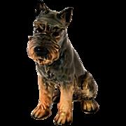 Vintage Sitting Goebel Schnauzer Dog