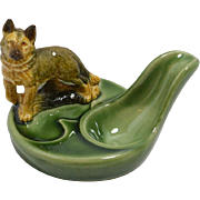 Vintage Wade German Shepherd Dog Pipe Holder