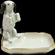 Dresden Porcelain Figural Dog Pin Tray Carl Thieme c. 1945