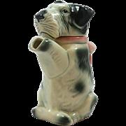 "Majolica ""Erphila"" Figural Terrier Dog Teapot c.1920's-1930's"