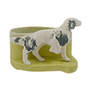SALE Vintage Ceramic Drip-Glaze Spaniel Dog Planter
