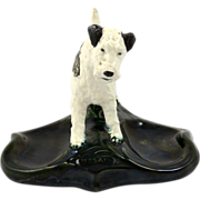 Vintage Mosaic Tile Company Terrier Dog Card Tray