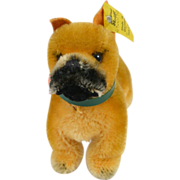 SALE Steiff Small Standing Boxer Dog With All Identification c.1959-1972