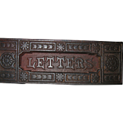 SOLD Very Old, English Cast Iron Mail Slot, LETTERS