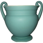 SALE Vintage, Coors Baldra Colorado Art Pottery, Mint Green Urn