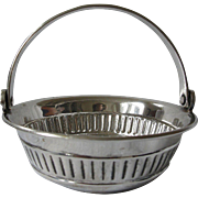 SALE Likely English, Old, Silver Plate Wine Tasting Cup Basket