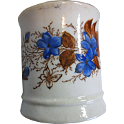 SALE Rare, Ironstone, Transfer Ware, Child's Tea Cup, Tankard, Aesthetic Butterfly & Flowers