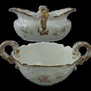 SALE Circa, 1884, OPCo Syracuse China Cream & Sugar Set, Pattern# 50204