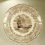 Neptune Staffordshire Nautical Plate, 1839-1846