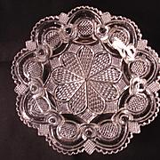 Sandwich Glass Dish, Roman Rosette Pattern, 1840-1855