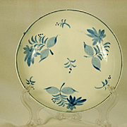 Pearlware Blue and White Painted Bowl in Free Style Decoration  C 1820
