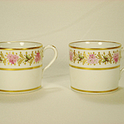 Pair of Coalport English Porcelain Coffee Cans  C 1810-1815