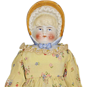 ANTIQUE GERMAN BONNET HEAD CHINA DOLL