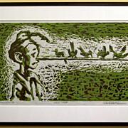 David Gantz - Lino Cut on Rice Paper